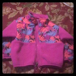 North Face Pink fleece jacket.